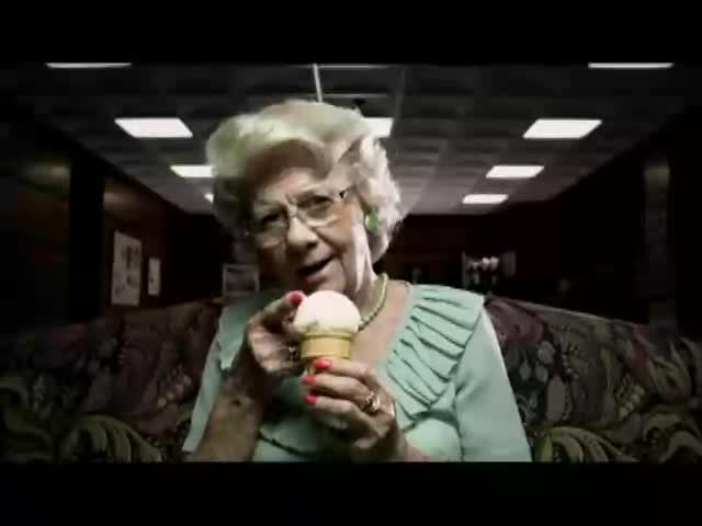 Ice Cream Goodness. Old ladies and Ice Cream. I lol'd... ....ew