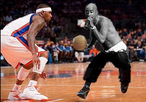 2Pac Playing Basketball. . 2Pac Playing Basketball