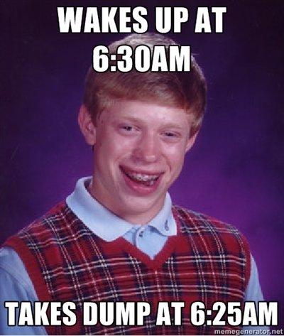 6:25. I always wake up at 6:30. Repostostoastoastoaster.. i, up AT timing is Everything