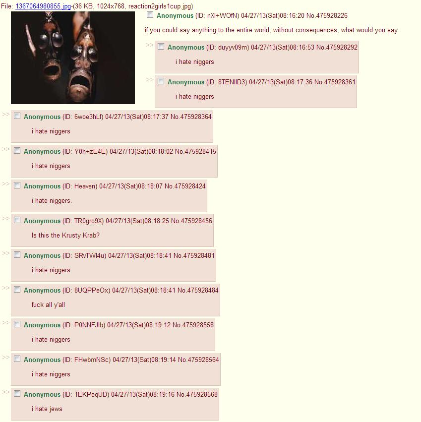 /b/ in a nutshell. I dislike African-americans.. Welp /b/ in a nutshell I dislike African-americans Welp