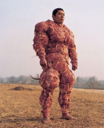 Bacon Man. is it a rat, is it meatman. no its Bacon Man!!!.. BE THE MEAT Bacon