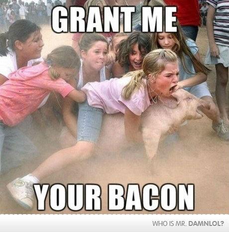 BACON!!!!!!!!. . it Vaha DAMNLOL? Bacon
