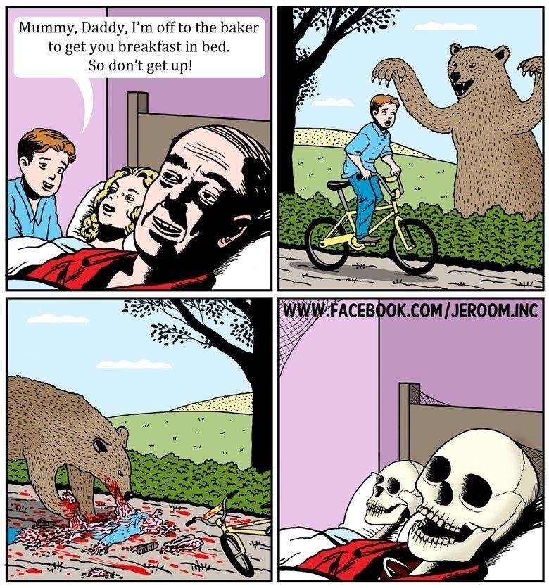 Bad bear. . Bear bakers fairy tale Unlucky faggot blood lol