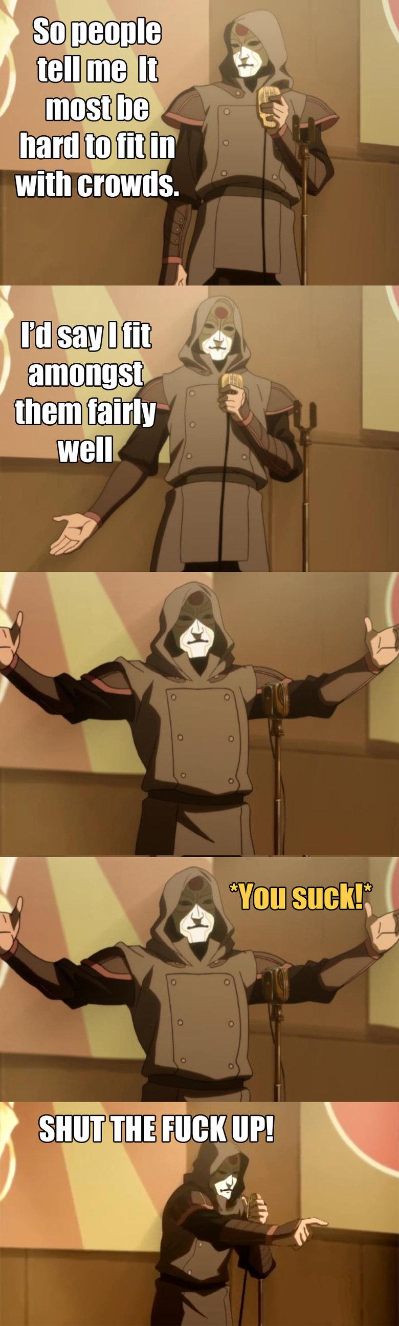 "Bad joke Amon doesn't take sht. Amon is gonna kill him. SHUT Fall} |( llp!. ""It most be hard"" ""It most be"" ""It MOST be"" no tags plz"