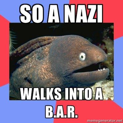 "Bad Joke Eel. The image itself is OC, I'm sure the joke isn't.. WARS "" lii BAH. bad joke eel is funny ha haha"