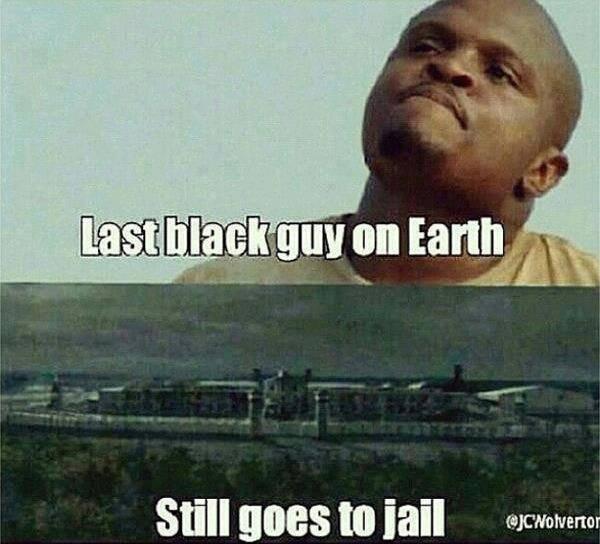 "Bad luck T-Dog. . fattal ! to ,'tta"". Last black guy on earth, named ""T-Dog"" Bad luck T-Dog fattal ! to 'tta"" Last black guy on earth named ""T-Dog"""