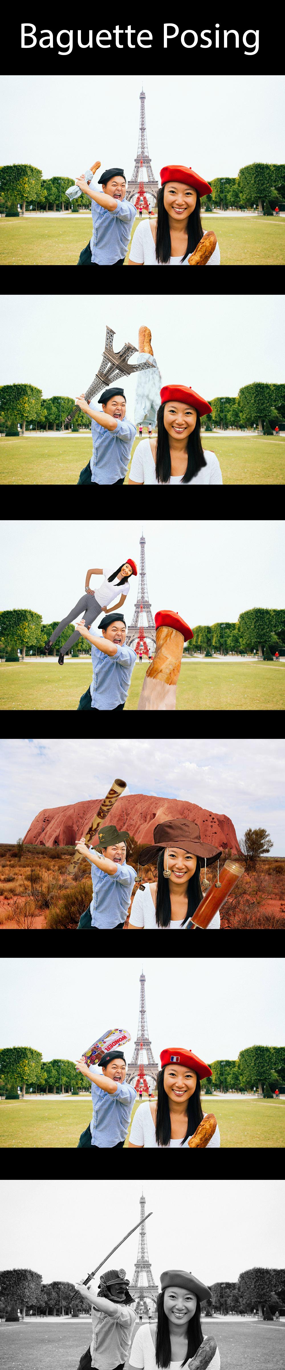 Baguette!. . baguette Photoshop paris france Asian
