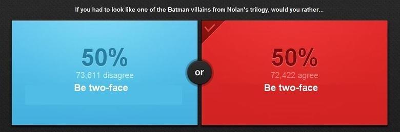 Batman Villains. choose carefully.. I'd rather be Two-Face, but that's just me. Batman Villains choose carefully I'd rather be Two-Face but that's just me