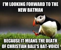 Batman Voice. thought id share. Milt Mums THE nanny.. Batman should be Black, not some pasty ass White batman ben affleck christian bale