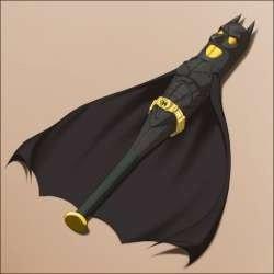 Batman. .. That's not Batman. That's a Bat inside of a Bat. That is BAT BAT. bag an man poop