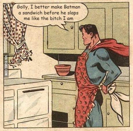 Batmans Bitch. . nah. inb4 badass alfred comic comics batman bitch Superman
