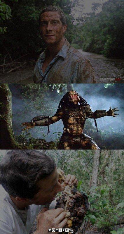 Bear grills vs preadertor. Will bear grills win this battle!.. dat spelling bear grills