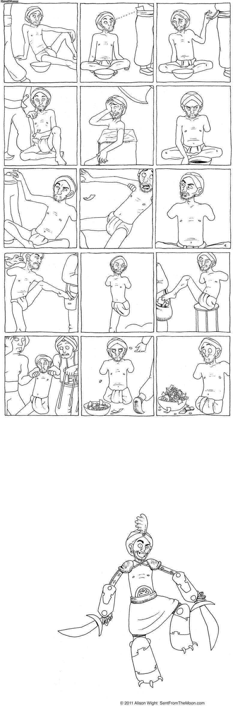 Beggar Comic. Found it on kuvaton.. 2011 Alison Wight . com beggar