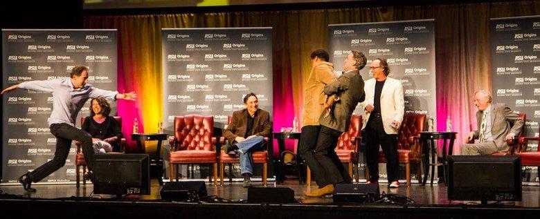 Bill Nye restraining Niel Degrasse Tyson. Your life is now complete.. Why? Bill Nye restraining Niel Degrasse Tyson Your life is now complete Why?