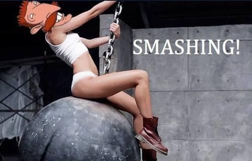 Blaaarrghh. . Nigel Thornberry Miley Cyrus wrecking Ball wreck smashing
