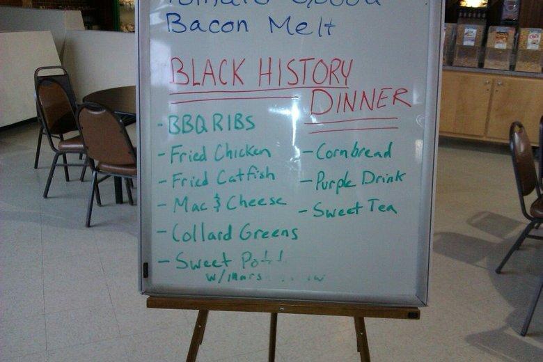 Black History Month Dinner!. 100% OC. MK HISTOR. I want black history month fried chicken purple drink