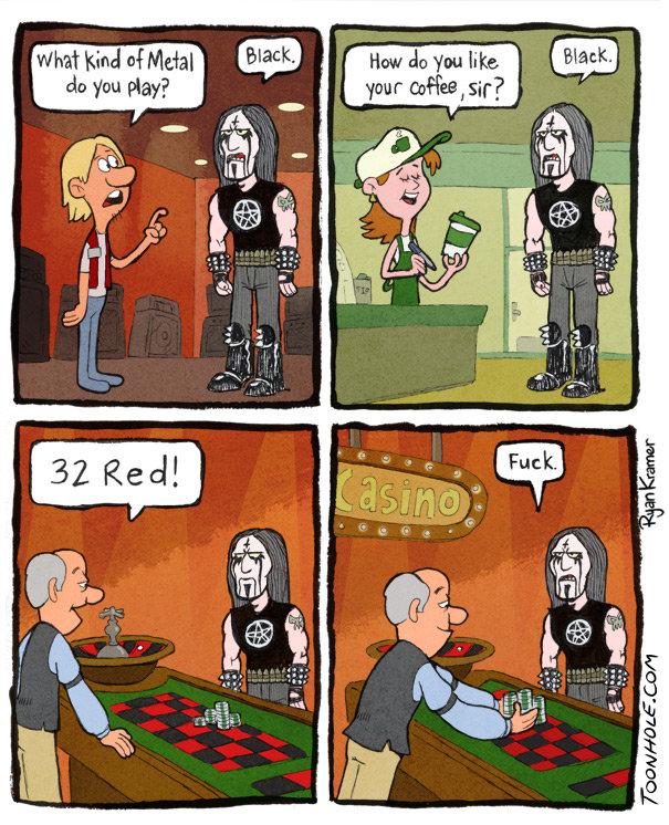 Black Metal. Black Metal for life. . toonhole toon cartoon comic webcomic gag Black Metal metal black Heavy Music