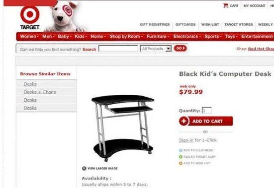 "Black Kid's Computer desk. Target has changed it to ""Kool Kolors Computer Desk Classic Black"". Moaarr manna i, it, an an rum reir. e. - loud:  desk Pc black"