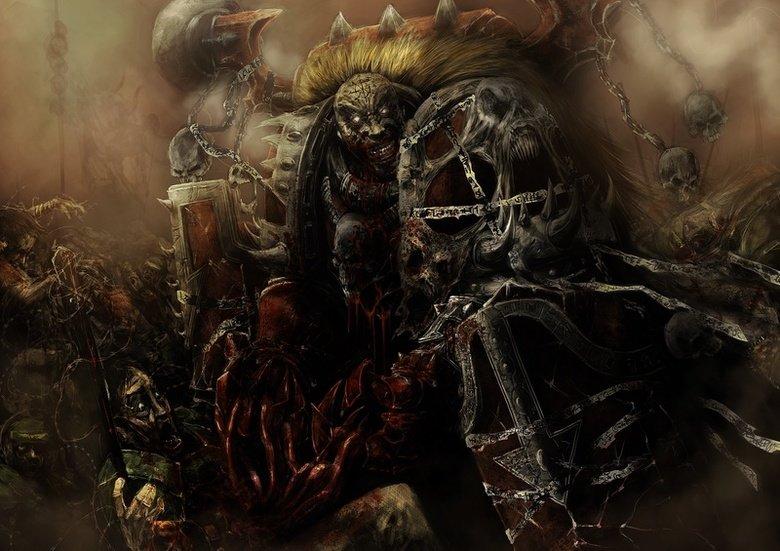 BLOOD FOR THE BLOOD GOD. Skulls for the SKULL THRONE. BLOOD FOR THE GOD Skulls for the SKULL THRONE