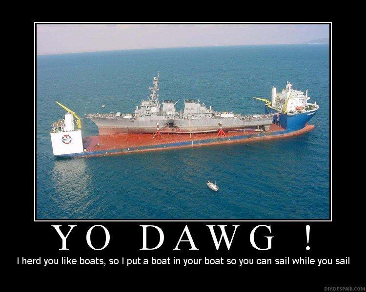 Boats. Bitch.. . boats
