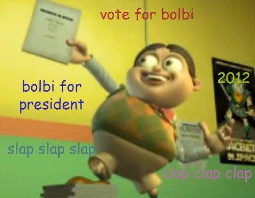 BOLBI 2012. slap slap slap clap clap clap. balm for president BOLBI 2012 slap clap balm for president