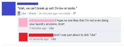 Break up no!. win or fail?.. post 16 minutes ago comment 17 minutes ago WHO WAS PHONE break up not yet