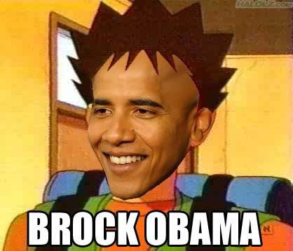Brock Obama. This is what you get when you cross Barack Obama with Brock.. FUKING FUNNY BROCK OBAMA obama brock Pokemon