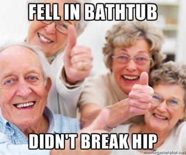 Broken hip. .. wakes up still alive Broken hip wakes up still alive