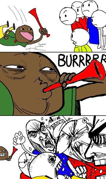 Burrrr. ZZZZZZZZZZ.. he uploaded his first less than a minute before Soccer horn burr zzz Vihtic funny