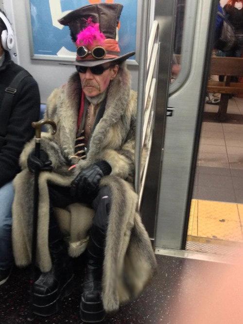 Fabulous. .. Spot the main character. weird funny Fabulous subway