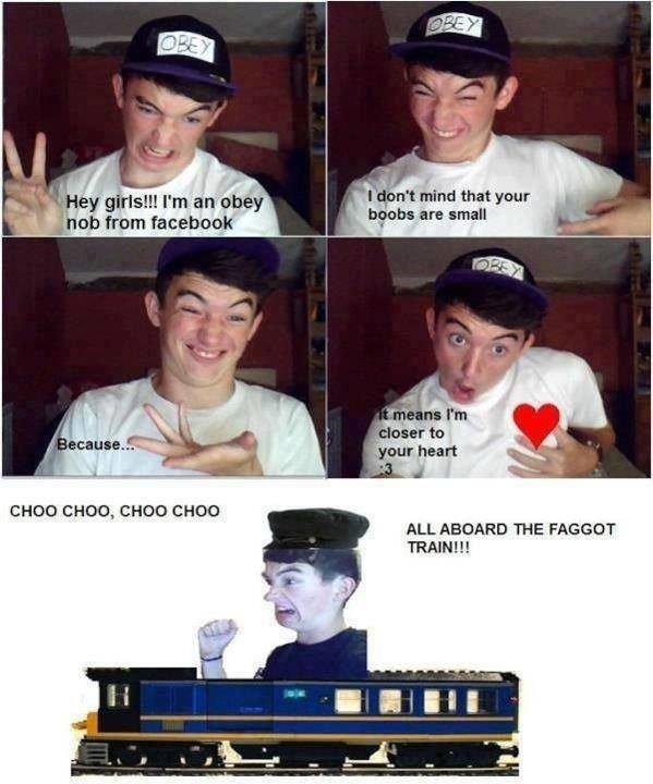 Facebook (1). cho cho. CHOU CHOU, CHOU CHOU ALL ABOARD THE TRAIN!!!. I think the original was already a parody, nobody can be like that.. faggots