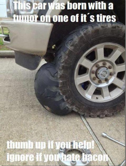 Facebook (1). inb4 white text/black border, found it on fb. me of it' s tires ima tumor imatumor