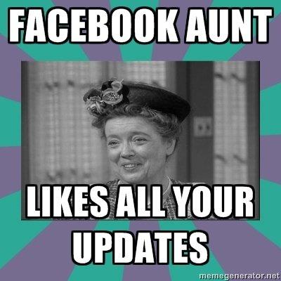 """Facebook aunt. . VIII""""! Facebook aunt VIII""""!"""