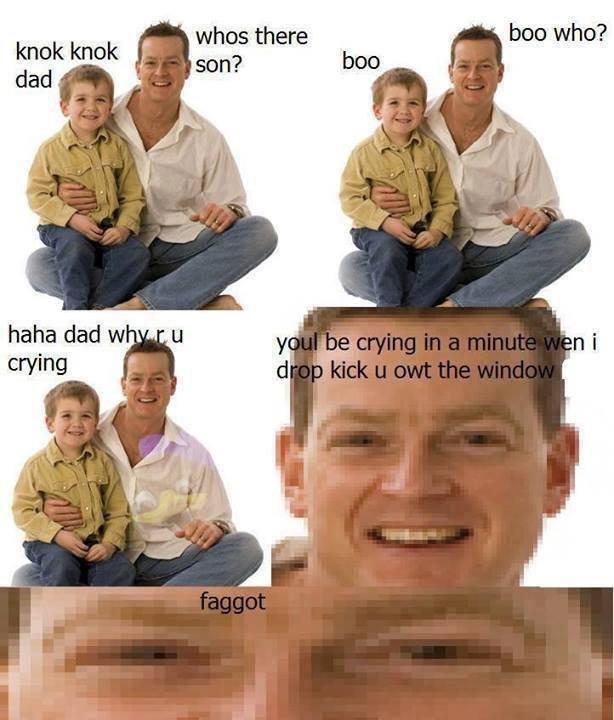 Faggot. Long while since i posted, so heres a faggot. ham dad w dad Crying