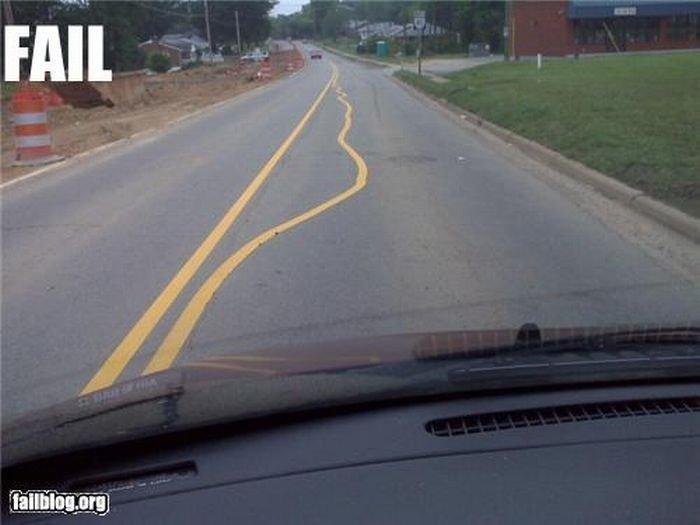 Fail. .. C'mon...so they had to go around the dead body...big deal! Road car fail
