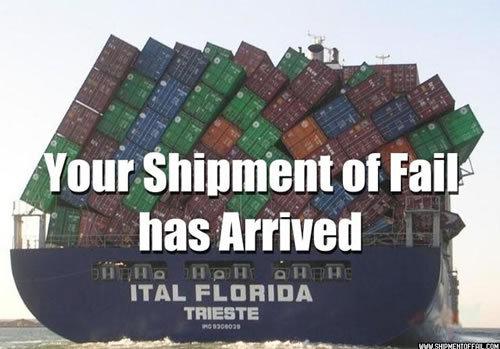 FAIL. .. under the boxes it looks like it says hahah fail