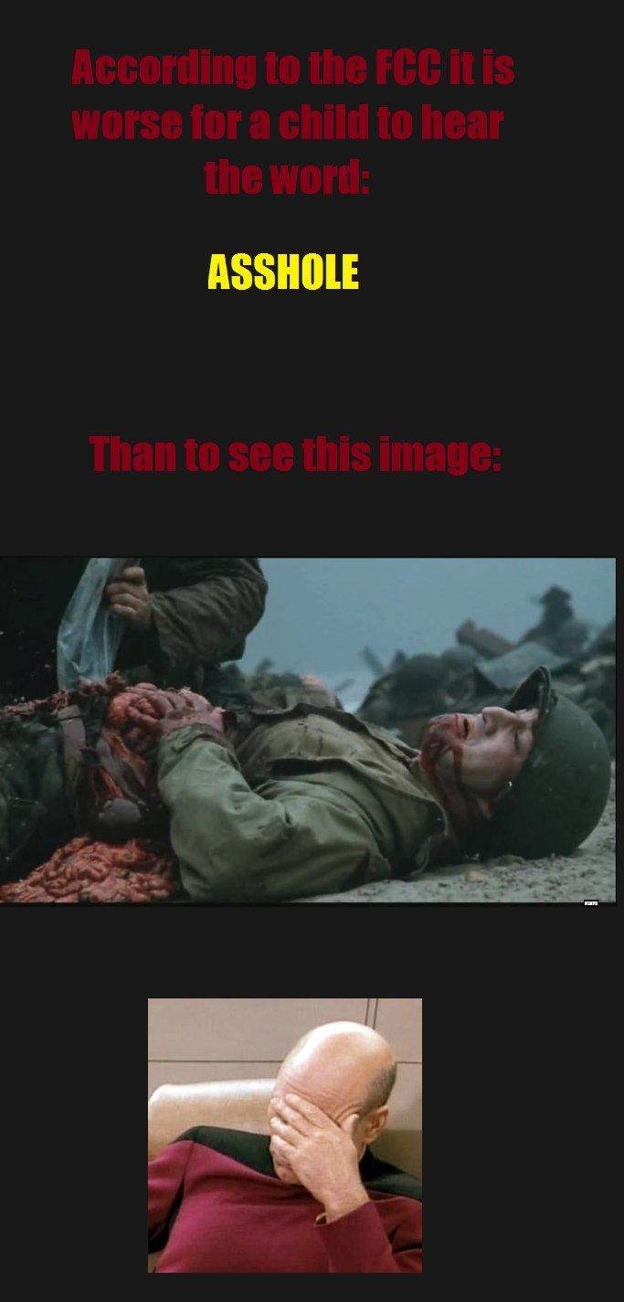FCC Fail. .. Saving Private Ryan is a good movie. FCC Fail Saving Private Ryan is a good movie