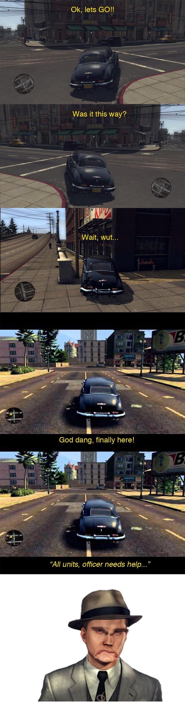 Feckin' LA Noire. Everytim.. I think that game really did need a waypoint. Feckin' LA Noire Everytim I think that game really did need a waypoint