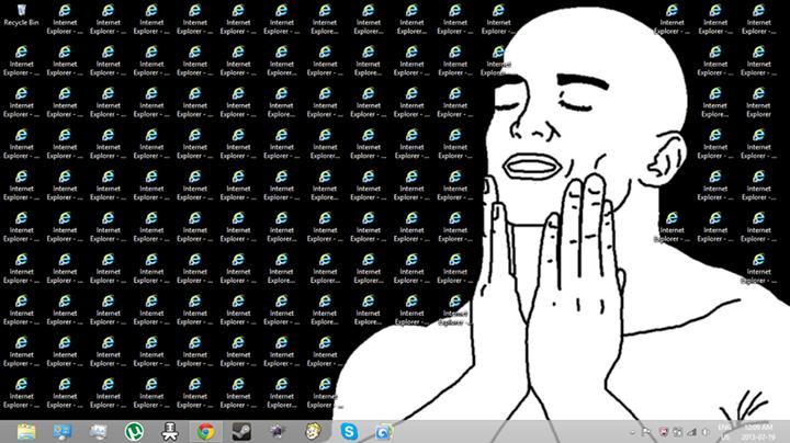 Feels good man. .. highlight the entire desktop. press enter. Feels good man highlight the entire desktop press enter
