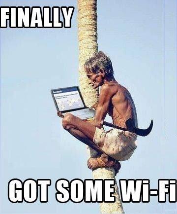 Finally Wi-Fi. . wi fi internet Laptop