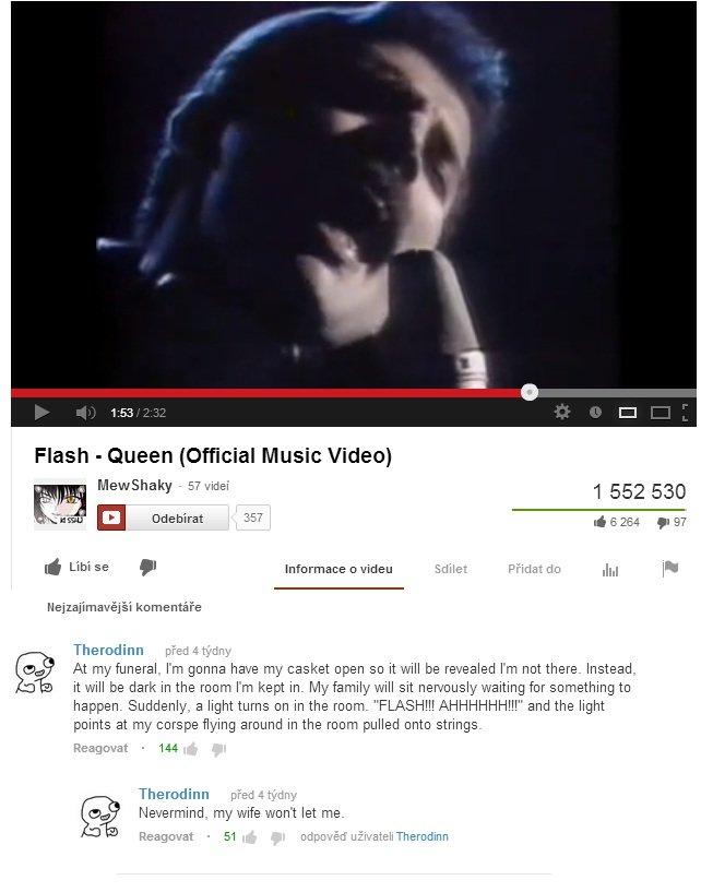 "Flash. Ah-a. Flash "" Queen iihf' racial Music Video) l 552 530 d Lit/ i . Infirmary Edits'. Feidir: do Jig P' ii komentare' e Theresina pied c tr.): iny gig At  savior of the universe"