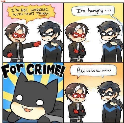 For crime!. . For crime!