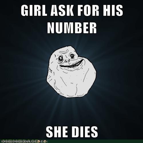 forever alone guy strikes again. .. Misused Meme