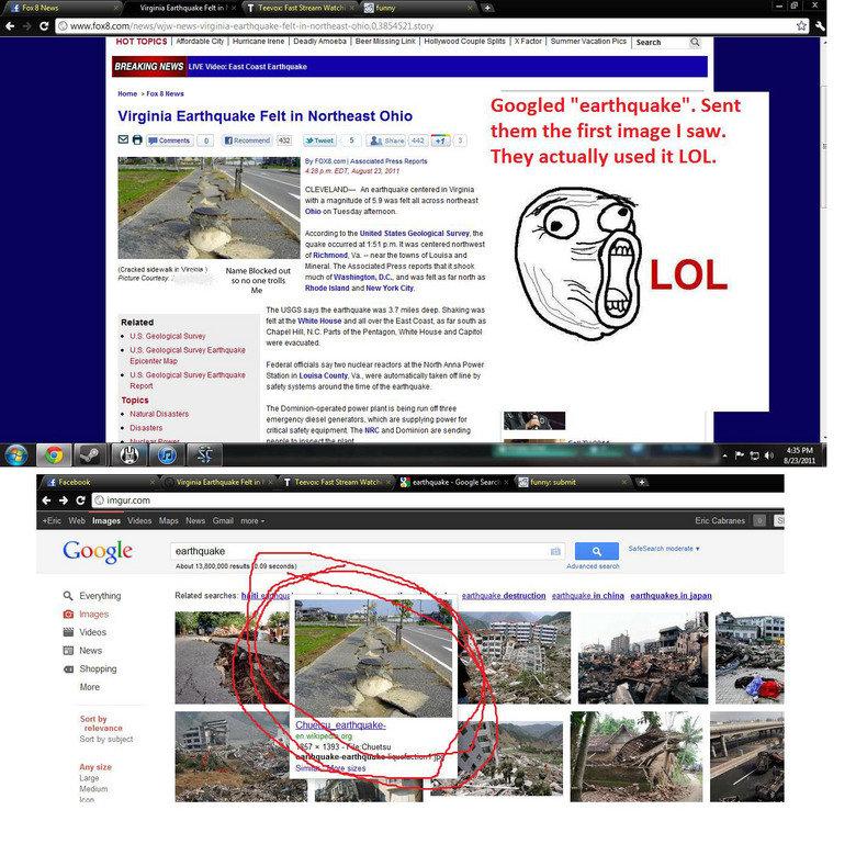 Fox News Fail. . HOTTOPICS ifirst' Xfactor Search Q Llh' .', NEWS Lil. -'E Mam East Coast Earthquake Home 2: Fox 8 Hews Virginia Earthquake Felt in Northeast Oh troll fox news