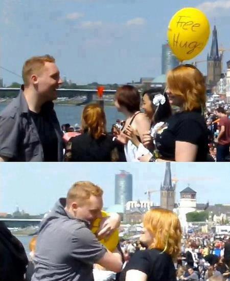 FREE??. Free hug balloon. FREE?? Free hug balloon