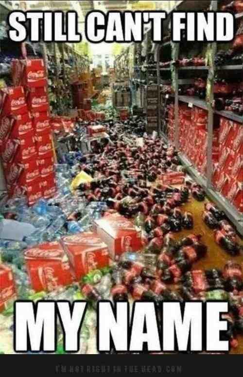 Fuck coke ... . Fuck coke