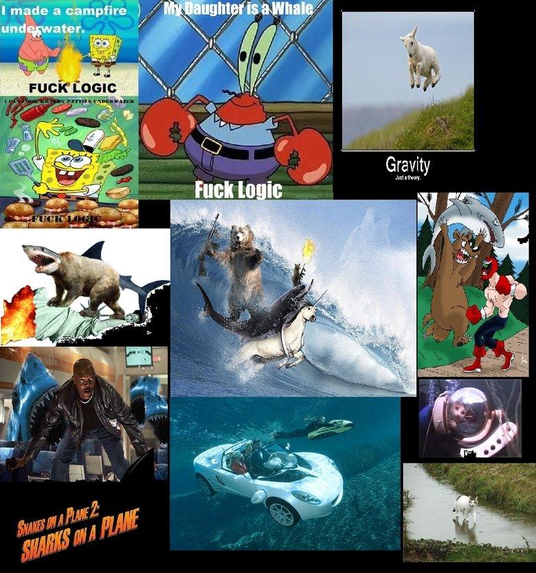 Fuck logic Contimplation. Logic.<br /> <br /> it.. more spongebob fuck logic car Shark lamb Gravity The Game