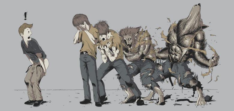 Full Moon. Don't moon a werewolf.. werewolf