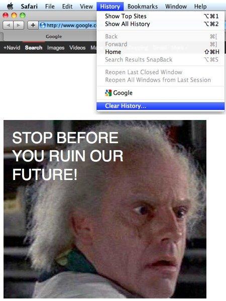Funny back to the future OC. OC brah proof? My bro was logged into google in the top left lol. i Safari File Edit View History : : mara: s Window Help iai E'! E back to the futu Doc Marty Mcfly
