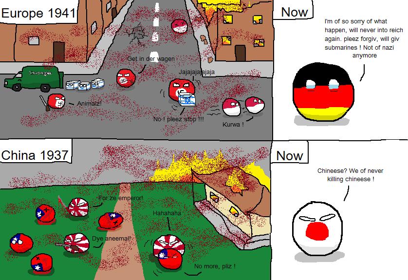 Japan's History Books. r/polandball (EArcee) reddit.com/r/polandball/comments/1w750q/japanshistorybooks/ Yes I know Japan apologized for that stuff. We talkin a Polandball wwII War